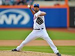 11 April 2012: New York Mets pitcher Manny Acosta on the mound against the Washington Nationals at Citi Field in Flushing, New York. The Nationals shut out the Mets 4-0 to take the rubber match of their 3-game series. Mandatory Credit: Ed Wolfstein Photo