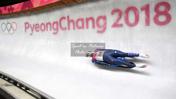 Rupert Staudinger (GBR). Mens luge. Pyeongchang2018 winter Olympics. Alpensia sliding centre. Alpensia. Gangneung. Republic of Korea. 11/02/2018. ~ MANDATORY CREDIT Garry Bowden/SIPPA - NO UNAUTHORISED USE - +44 7837 394578