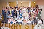 The O'Donoghue Clan held a family reunion at the Ring of Kerry Hotel on Saturday night last Family members traveled from the USA to be present on the night, they also celebrated Noreen O'Donoghue's 80th birthday(Seated front centre) on the night.