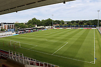 General view of Woking FC taken from the Leslie Gosden Stand during Woking vs Watford, Friendly Match Football at The Laithwaite Community Stadium on 8th July 2017