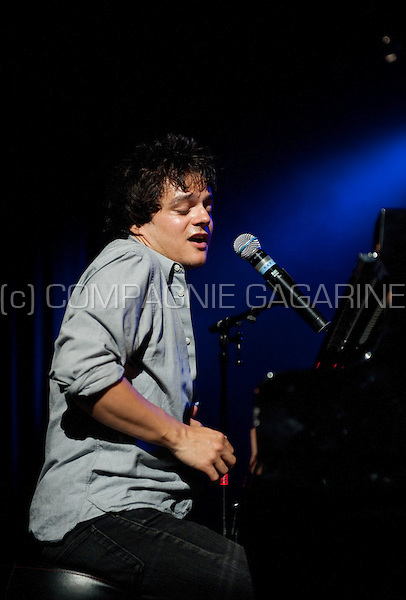 British singer Jamie Cullum in concert at the Jazz Middelheim festival in Antwerp (Belgium, 14/08/2011)
