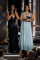 Taraji P. Henson and Gina Rodriguez present at the 76th Annual Golden Globe Awards at the Beverly Hilton in Beverly Hills, CA on Sunday, January 6, 2019.<br /> *Editorial Use Only*<br /> CAP/PLF/HFPA<br /> Image supplied by Capital Pictures