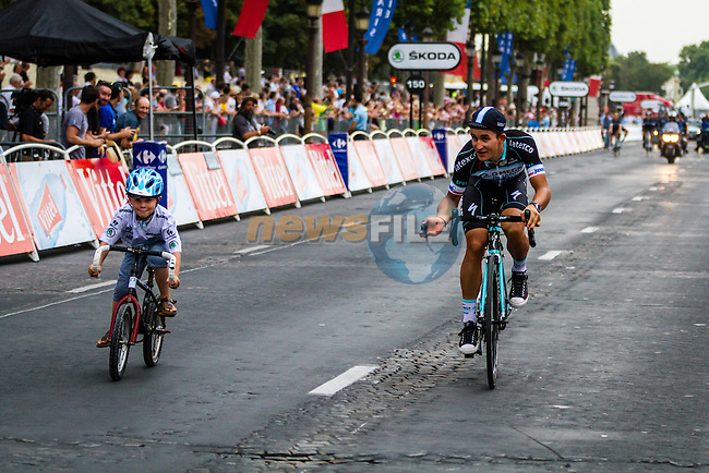 Omega Pharma - Quickstep, Rider parade on the Champs-Élysées, Tour de France, Stage 21: Évry > Paris Champs-Élysées, UCI WorldTour, 2.UWT, Paris Champs-Élysées, France, 27th July 2014, Photo by Thomas van Bracht
