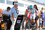 Miguel Angel Lopez (COL) Astana on the start ramp during Stage 16 of the 2017 La Vuelta, an individual time trial running 40.2km from Circuito de Navarra to Logro&ntilde;o, Spain. 5th September 2017.<br /> Picture: Unipublic/&copy;photogomezsport | Cyclefile<br /> <br /> <br /> All photos usage must carry mandatory copyright credit (&copy; Cyclefile | Unipublic/&copy;photogomezsport)