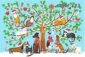 Kate, CHRISTMAS ANIMALS, WEIHNACHTEN TIERE, NAVIDAD ANIMALES, paintings+++++Christmas page 100 1,GBKM123,#xa#