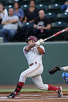 Brett Michael Doran #13 of the Stanford Cardinal bats against the UCLA Bruins at Jackie Robinson Stadium on April 27, 2012 in Los Angeles,California. Stanford defeated UCLA 7-2.(Larry Goren/Four Seam Images)