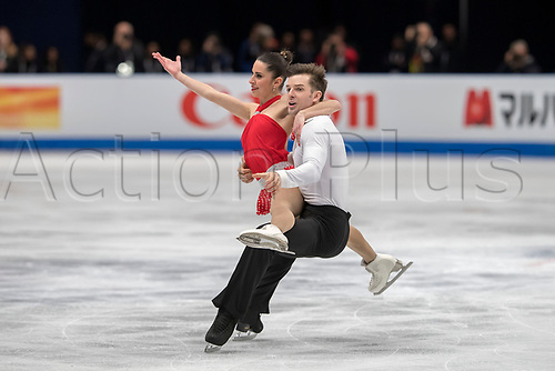 21st March 2018, Milan, Italy; ISU World Figure Skating Championships Milano 2018;  VALENTINA MARCHEI and ONDREJ HOTAREK