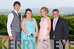 Gary Naughton, Lavina O'Shea, Esther Kelliher and Ruairi O'Shea enjoying the ISK debs at the Ballyroe Heights hotel, Tralee on Thursday.