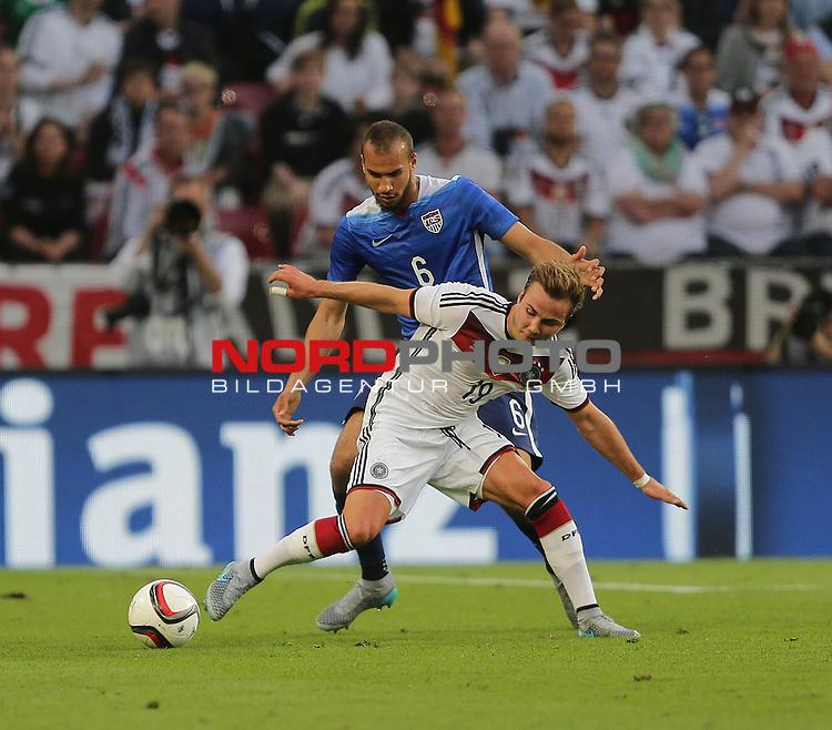 DFB Freundschaftsl&auml;nderspiel, Deutschland vs. USA<br /> John Anthony Brooks (USA), Mario G&ouml;tze (Deutschland)<br /> <br /> Foto &copy; nordphoto /  Bratic