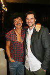 """Randy Jones (Village People) and As The World Turns' Austin Peck perform at the table: A Special Talent Reading of the new novel """"The Great Heist"""" by author and filmmaker Kenneth Del Vecchio on November 3, 2008 at the Williams Center, Rutherford, New Jersey. The event is presented by Justice For All Productiona and the Hoboken International Film Mestival and osted by Bergen County Film Commission.   (Photo by Sue Coflin/Max Photos)"""