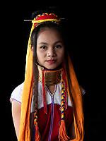 Long neck Padaung women at Ywama village, Inle Lake, Shan State, Myanmar