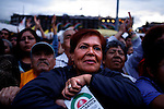 MEXICO DF. SEPTEMBER 2006. EVERY DAY THE SUPPORTERS OF PRESIDENTIAL CANDIDATE ANDRES MANUEL LOPEZ OBRADOR CELEBRATE ONE MEETING AT THE CONSTITUTION SQUARE (ZOCALO), WHERE HE GIVES A SPEECH.