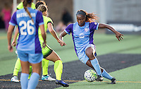 Seattle, WA - Saturday July 23, 2016: Jamia Fields during a regular season National Women's Soccer League (NWSL) match between the Seattle Reign FC and the Orlando Pride at Memorial Stadium.