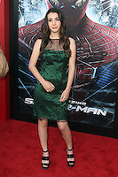 Hannah Marks at the premiere of Columbia Pictures' 'The Amazing Spider-Man' at the Regency Village Theatre on June 28, 2012 in Westwood, California. &copy; mpi22/MediaPunch Inc. *NORTEPHOTO.COM*<br />