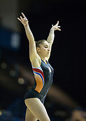 21st March 2018, Arena Birmingham, Birmingham, England; Gymnastics World Cup, day one, womens competition; Vera van Pol (NED) on the Balance Beam during  Training