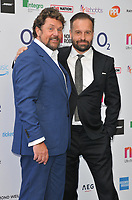 Michael Ball and Alfie Boe at the Nordoff Robbins O2 Silver Clef Awards 2018, Grosvenor House Hotel, Park lane, London, England, UK, on Friday 06 July 2018.<br /> CAP/CAN<br /> &copy;CAN/Capital Pictures