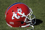 October 24, 2015 - Colorado Springs, Colorado, U.S. - A Fresno State helmet prior to the NCAA Football game between the Fresno State Bulldogs and the Air Force Academy Falcons at Falcon Stadium, U.S. Air Force Academy, Colorado Springs, Colorado.  Air Force defeats Fresno State 42-14.
