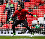 Joel Castro Pereira of Manchester United warms up during the English Premier League match at the Old Trafford Stadium, Manchester. Picture date: May 21st 2017. Pic credit should read: Simon Bellis/Sportimage