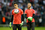 Joel Castro Pereira of Manchester United and David De gea during the UEFA Europa League Final match at the Friends Arena, Stockholm. Picture date: May 24th, 2017.Picture credit should read: Matt McNulty/Sportimage