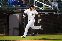 Jackson Generals first baseman D.J. Peterson (33) scores a run during a game against the Jacksonville Suns on May 4, 2016 at The Ballpark at Jackson in Jackson, Tennessee.  Jackson defeated Jacksonville 11-6.  (Mike Janes/Four Seam Images)