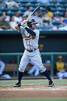 ***Temporary Unedited Reference File***Mississippi Braves right fielder Matt Lipka (20) during a game against the Jacksonville Suns on May 1, 2016 at The Baseball Grounds in Jacksonville, Florida.  Jacksonville defeated Mississippi 3-1.  (Mike Janes/Four Seam Images)