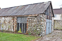 Dundalk, Co Louth, Rubble stone and brick shed Its original agricultural or industrial purpose undetermined Back garden survivor hemmed in between a recently built estate, Barrack Street location