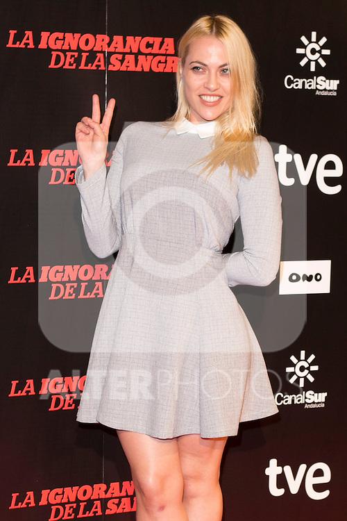"Daniela Blume attends ""La Ignorancia de la Sangre"" Premiere at Capitol Cinema in Madrid, Spain. November 13, 2014. (ALTERPHOTOS/Carlos Dafonte)"