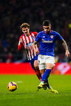Unai Nunez of Athletic de Bilbao (R) competes for the ball with Antoine Griezmann of Atletico de Madrid during the La Liga 2018-19 match between Atletico de Madrid and Athletic de Bilbao at Wanda Metropolitano, on November 10 2018 in Madrid, Spain. Photo by Diego Gouto / Power Sport Images