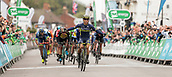 8th September 2017, Newmarket, England; OVO Energy Tour of Britain Cycling; Stage 6, Newmarket to Aldeburgh;EWAN Caleb of Orica-Scott celebrates after winning Stage 6 of The Tour of Britain