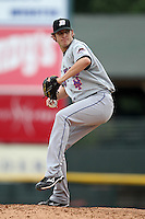 Buffalo Bisons starting pitcher Josh Stinson during a game vs. the Rochester Red Wings at Frontier Field in Rochester, New York;  September 6, 2010.  Buffalo defeated Rochester 16-1 in the season finale for both teams.  Photo By Mike Janes/Four Seam Images