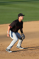 Jay Baum (26) of the Bakersfield Blaze in the field during a game against the Rancho Cucamonga Quakes at LoanMart Field on June 1, 2015 in Rancho Cucamonga, California. Rancho Cucamonga defeated Bakersfield, 5-2. (Larry Goren/Four Seam Images)