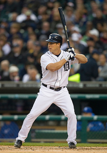 May 01, 2012:  Detroit Tigers outfielder Andy Dirks (12) at bat during MLB game action between the Kansas City Royals and the Detroit Tigers at Comerica Park in Detroit, Michigan.  The Tigers defeated the Royals 9-3.