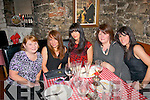 HAPPY BIRTHDAY: Kay Griffin celebrating her birthday in Finnegans restaurant, Tralee on Saturday night, with l-r: Lena and Kay Griffin, Blennerville, Sharon Hobbert, Anna and Tara Crean (Tralee).