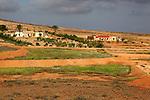 Farm in rural landscape, near Tetir, Fuerteventura, Canary Islands, Spain