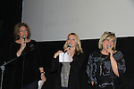 """On Stage - hosts comedian Judy Gold, Meredith Patterson (AMC - """"Francesca"""" and wedding planner for """"Olivia"""" on GL) & producer for this show & sang """"""""Dream a Little Dream"""" & One Life To Live's Kim Zimmer at the 4th Annual Curtains Up for a Cure Concert: Broadway Honors the faces of HD benefitting Huntington's Disease Society of America on January 31, 2011 at Village Cinema East, New York City, New York. (Photo by Sue Coflin/Max Photos)"""