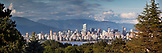 CANADA, Vancouver, British Columbia, beautiful view of Vancouver City from Trimble Park looking towards Crown Mountian