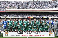 SÃO PAULO, SP, 13 DE MAIO DE 2012 - FINAL DO CAMPEONATO PAULISTA - SANTOS x GUARANI: Time do Guarani durante Santos x Guarani, segunda partida da final do Campeonato Paulista no Estádio do Morumbi. FOTO: LEVI BIANCO - BRAZIL PHOTO PRESS