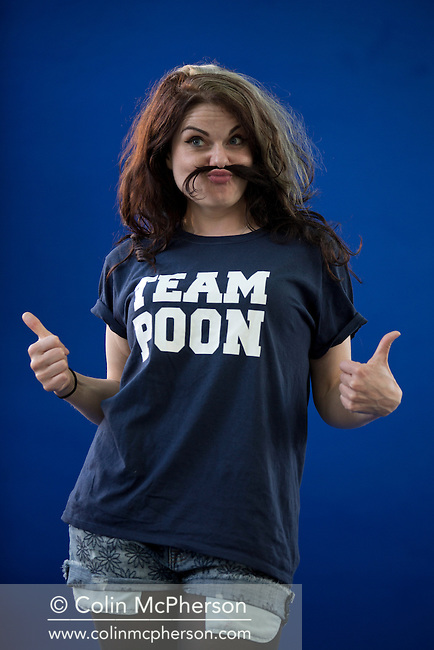 British broadcaster, critic and columnist Caitlin Moran, pictured at the Edinburgh International Book Festival where she talked about her latest book entitled 'Moranthology'. The three-week event is the world's biggest literary festival and is held during the annual Edinburgh Festival. The 2013 event featured talks and presentations by more than 500 authors from around the world and was the 30th edition of the festival.