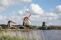 The Netherlands, Zaanse Schans, 2015 06 03. Mills in Zaanse Schans