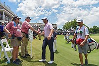 Jon Rahm (ESP) shakes hands with the volunteers following  round 3 of the Fort Worth Invitational, The Colonial, at Fort Worth, Texas, USA. 5/26/2018.<br /> Picture: Golffile | Ken Murray<br /> <br /> All photo usage must carry mandatory copyright credit (&copy; Golffile | Ken Murray)