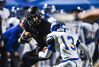NWA Democrat-Gazette/CHARLIE KAIJO Bentonville wide receiver Chas Nimrod (5) carrie the ball, Friday, November 29, 2019 during the Class 7A semifinal at Bentonville High School in Bentonville.