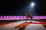 Equestrian artist Clemence Faivre performs during a show at the Longines Masters of Hong Kong at the Asia World Expo on 09 February 2018, in Hong Kong, Hong Kong. Photo by Ian Walton / Power Sport Images
