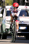 Tadej Pogacar (SLO) UAE Team Emirates in action during Stage 10 of La Vuelta 2019 an individual time trial running 36.2km from Jurancon to Pau, France. 3rd September 2019.<br /> Picture: Luis Angel Gomez/Photogomezsport | Cyclefile<br /> <br /> All photos usage must carry mandatory copyright credit (© Cyclefile | Luis Angel Gomez/Photogomezsport)
