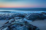 A summer sunrise at Hampton Beach in Hampton, New Hampshire, USA