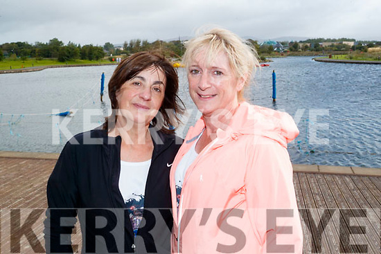 Rita Ryan (Caherslee, Tralee) and Bernadette Daly (The Kerries, Tralee), who took part in the Colour Dash 5km Colour Run, in aid of Crumlin Children's Hospital at Tralee Bay Wetlands, on Sunday morning last.