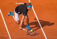 Paris, France, 3 june, 2019, Tennis, French Open, Alexander Zverev (GER) in action aganst Italian Fognini<br /> Photo: Henk Koster/tennisimages.com