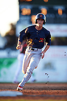 State College Spikes designated hitter Tommy Edman (16) running the bases during a game against the Batavia Muckdogs on June 23, 2016 at Dwyer Stadium in Batavia, New York.  State College defeated Batavia 8-4.  (Mike Janes/Four Seam Images)