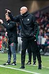 FC Copenhague coach Stale Solbakken during Europa League match between Atletico de Madrid and FC Copenhague at Wanda Metropolitano in Madrid , Spain. February 22, 2018. (ALTERPHOTOS/Borja B.Hojas)