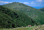 Hiking in the Presidential Range of the White Mountains, New Hampshire, USA