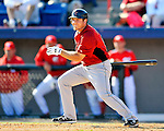 7 March 2011: Houston Astros' outfielder J.B. Shuck in action during a Spring Training game against the Washington Nationals at Space Coast Stadium in Viera, Florida. The Nationals defeated the Astros 14-9 in Grapefruit League action. Mandatory Credit: Ed Wolfstein Photo